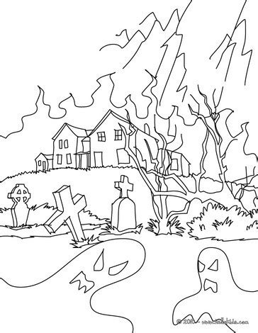 Graveyard Coloring Pages at GetColorings.com | Free