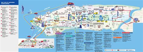 tourist map of new york city printable to map of new york pass attractions world maps