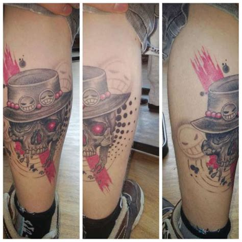 ace one piece back tattoo one piece portgas d ace tattoo