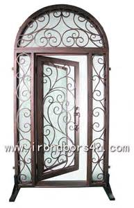 Front Doors With Wrought Iron Wrought Iron Doors Ssdst 003 Front Doors By Kohliron