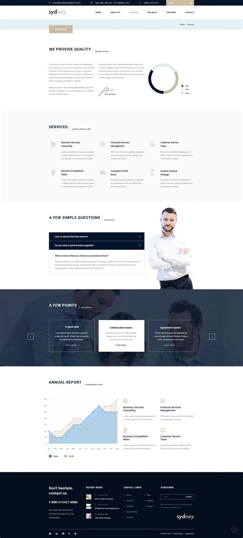 html5 template business sydney multiuse financial business html5 css3 template