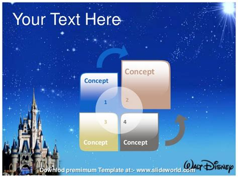 disney templates disney world powerpoint template slideworld