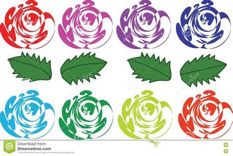 imagenes abstractas de flores rosas y hojas abstractas varicoloured imagenes de archivo