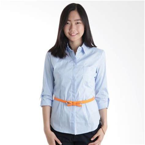 Atasan Biru Muda Cantik jual adore garis biru muda atasan wanita harga kualitas terjamin blibli