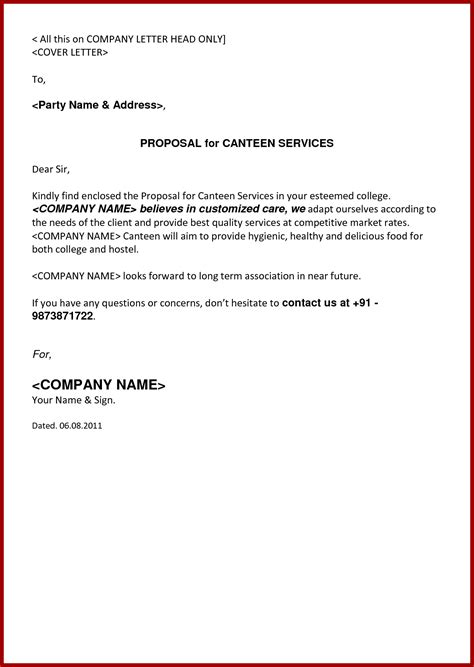 example of a proposal letter best of sample proposal letter for