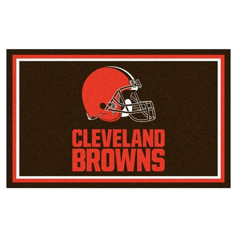 cleveland browns rug fanmats cleveland browns 4 ft x 6 ft area rug 6571 the home depot