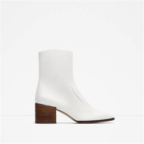 white boots white ankle boots cr boot