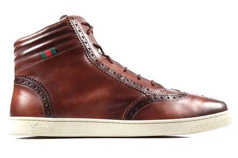 gucci s shoes high top leather trainers sneakers new