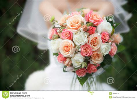 Fresh Wedding Flowers by Wedding Bouquet From Fresh Flowers Royalty Free Stock