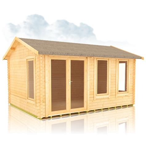 Log Cabin Sizes by Fairoak 44mm Log Cabin Sizes Range From 14ftx10ft To