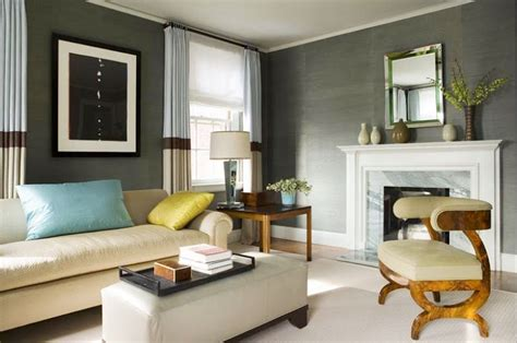 accent wall for grey living room modern house