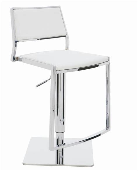 White Leather High Back Bar Stools by 35 Stylish Modern Adjustable White Leather Bar Stools