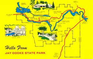 Minnesota State Park Map by Postcardy The Postcard Explorer Jay Cooke State Park