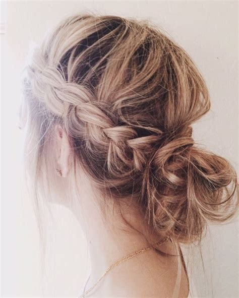 casual braided hairstyles for medium hair love this casual messy braided bun natural hair style