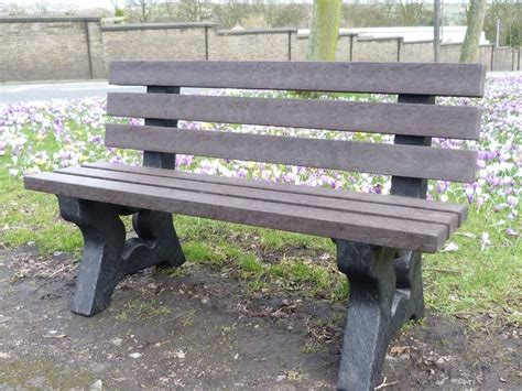 recycled plastic garden benches irwell 3 seater garden bench trade