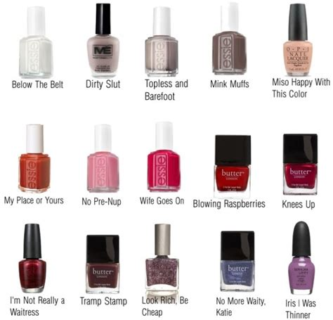 strange color names the gallery for gt nail color names list