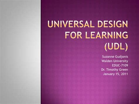 universal design is important and helpful in remodeling universal design for learning udl