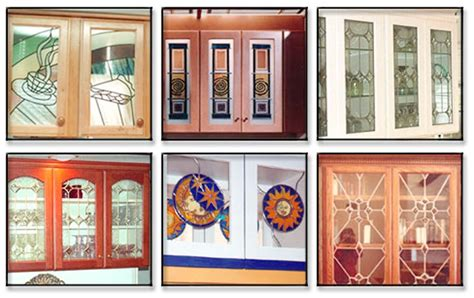 Kitchen Cabinet Doors Glass Leaded Stained Glass Kitchen Cabinet Doors 3 Spotlats