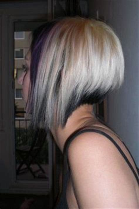 reverse bob with two tone color two toned bob