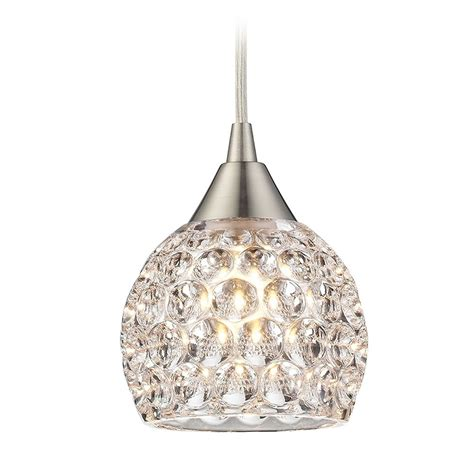 Pendant Light With Crystals Mini Pendant Light With Clear Glass 10341 1 Destination Lighting