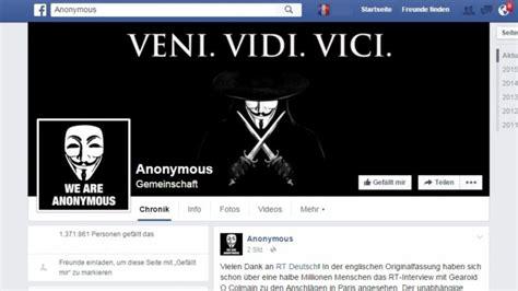 verbreitet anonymous rechte hetze auf facebook anonymous bei facebook falsche anonymous seite