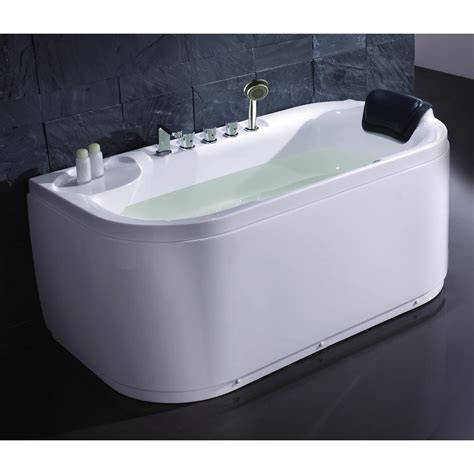 eago bathtub eago lk1103 l 59 in acrylic flatbottom bathtub in white