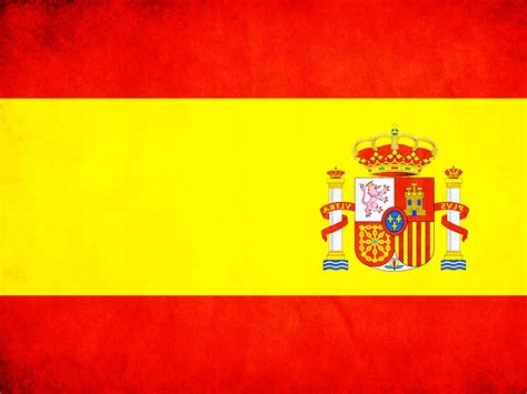 Spain Flag In Powerpoint Backgrounds Ppt Backgrounds Templates Printable Spain Flag