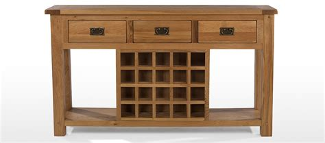 wine rack console table rustic oak wine rack console table quercus living