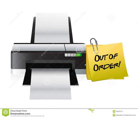 Printer Out Of Order Post Stock Image Image 30043111