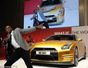 usain bolt new car usain bolt satisfies need for speed as sprint poses