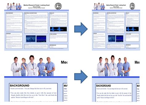 poster layout portrait poster sizing and resizing how do i setup my scientific
