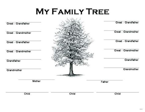 fill in the blank family tree template 5 generation family tree chart freetruth info