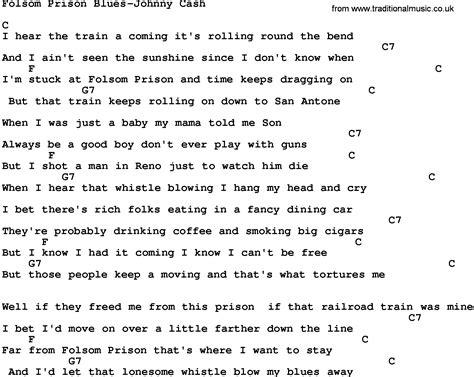 Johnny Cash Folsom Prison Blues Guitar Chords