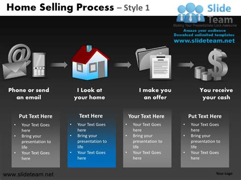sell powerpoint templates home selling steps to sell process design 1 powerpoint ppt