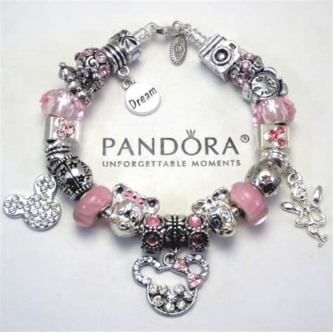 authentic pandora bracelet pink minnie mickey mouse