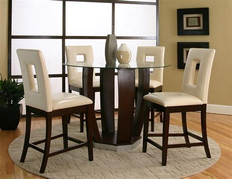 Bar Top Dining Room Furniture Emerson Table 4 Chairs 45133 539 Cramco Counter Height
