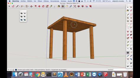 sketchup  carpinteros tutorial basico youtube