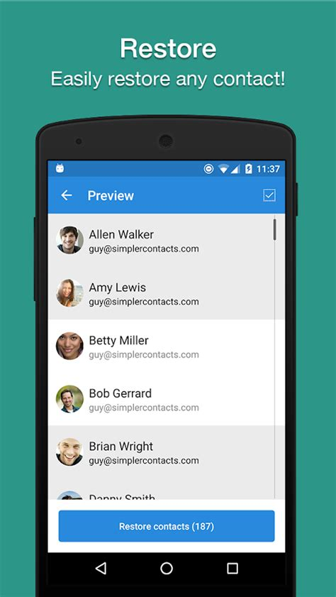 reset android keep contacts contacts backup restore by simpler android apps on
