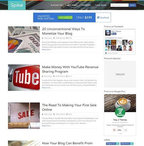 spike blogger template 187 abtemplates com