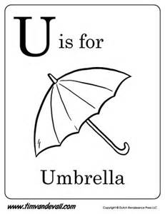 Printable Umbrella Template For Preschool by U Is For Umbrella Letter U Coloring Page Pdf