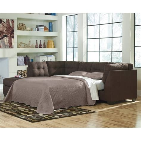 ashley sectional sleeper ashley maier 2 piece left fabric chaise sleeper sectional