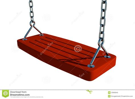 red swing red swing seat stock photo image 23695840