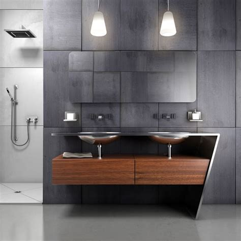 contemporary bathroom vanity ideas bancada em a 231 o inox um p 233 inclinado banheiros vanity ideas contemporary