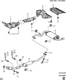 2003 Pontiac Vibe Exhaust System Exhaust System Heat Shields
