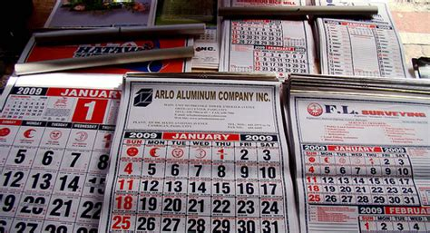 Calendars For Sale Photo