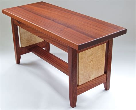 Wood Bench Coffee Table Kiara Bench Coffee Table In Sapele Wood