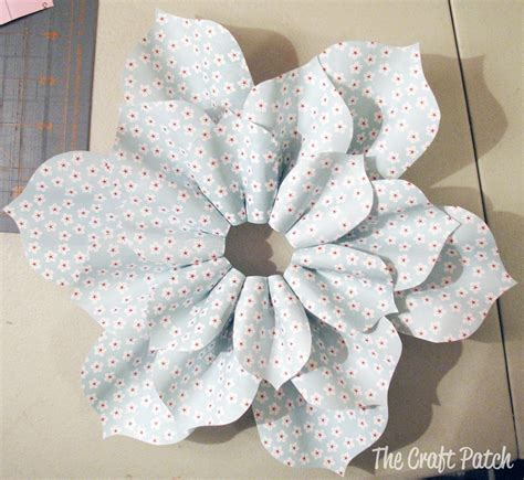 Paper Crafts Tutorials - the craft patch paper flower tutorial
