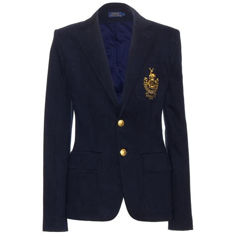 design polo jacket lyst polo ralph lauren custom embroidered blazer in black