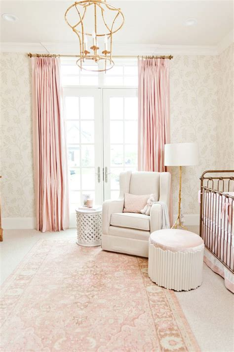 pink and white nursery curtains best 25 pink nurseries ideas on baby nursery