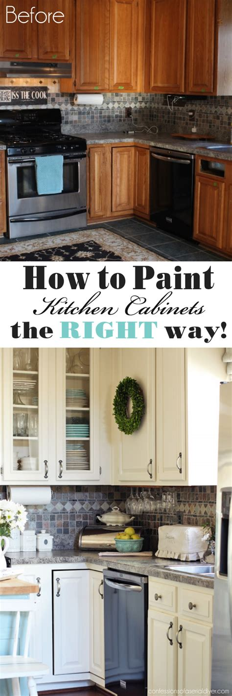 How Do You Paint Kitchen Cabinets White How To Paint Kitchen Cabinets A Step By Step Guide Confessions Of A Serial Do It Yourselfer